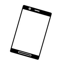 silhouette black smartphone screen mobile digital vector image