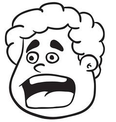 simple black and white fat boy scream vector image