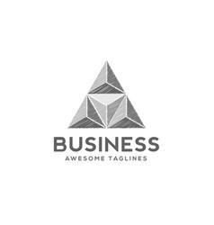 sketch triangle logo concept vector image