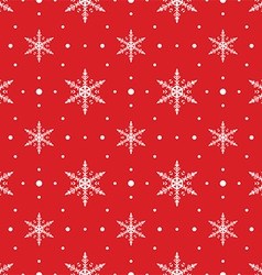 Snow Flakes Pattern Seamless on Red Background vector