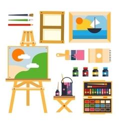 studio drawing tools to creative process flat vector image