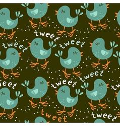Talking bird patterns vector