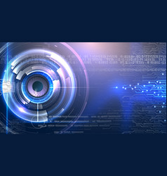 Technology futuristic eye on bright background vector