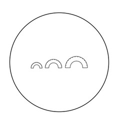Tire on playgarden icon in outline style isolated vector