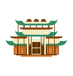 traditional pagoda building asian wooden vector image
