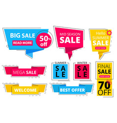 trendy flat banners offers advertizing discount vector image