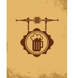 Vintage bar sign post vector