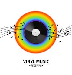vinyl record realistic musical retro disk vector image