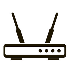 wifi router icon simple style vector image