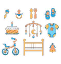 baby boy icon vector image
