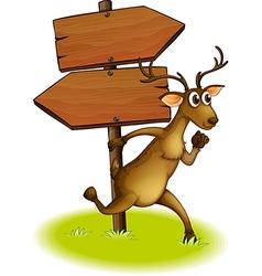 Deer Arrow board vector image