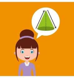 Geometry education online design girl bubble vector