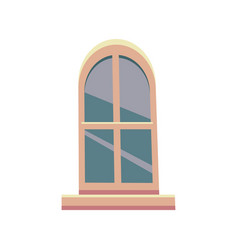 house big window vector image vector image