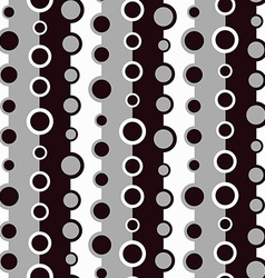 monochrome circle seamless pattern vector image
