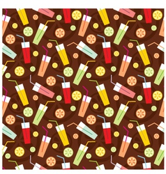 Seamless drinks pattern vector image