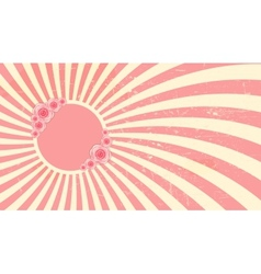 Strawberry cream abstract hypnotic background with vector image