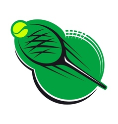 Tennis sports icon vector image vector image