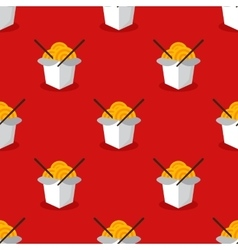 bright wok box chineese seamless pattern vector image vector image