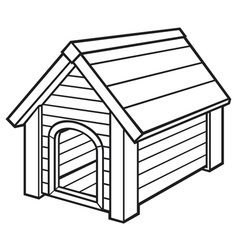 dog house vector image