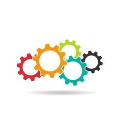 Gears logo Concept of Teamwork vector image vector image