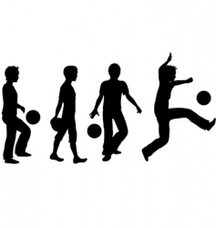 kids playing silhouette vector image