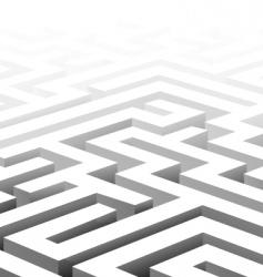3d maze vector image vector image