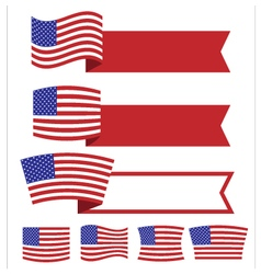 Banner American Independence Day1 vector image vector image