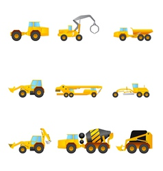 set of Building machines vector image