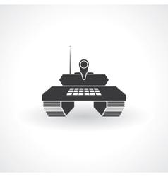 tank icon vector image vector image