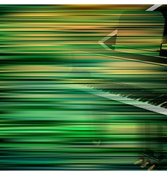 Abstract green blur background with grand piano vector