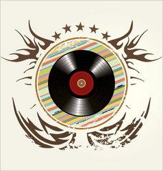grunge vinyl banner vector image vector image