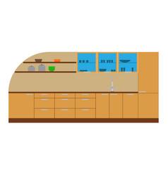 kitchen cabinet furniture interior icon design vector image vector image