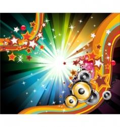 music disco flyers vector image