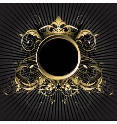 ornamental shield vector image vector image