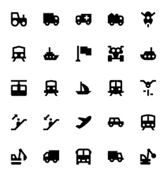 Transportation icons 3 vector