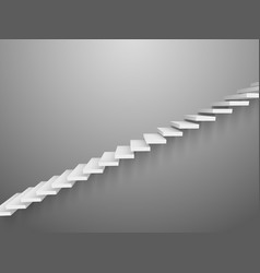 3d staircase wall ladder abstract wall vector image