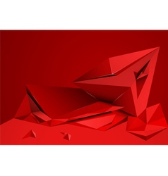 Abstract shape red color vector image