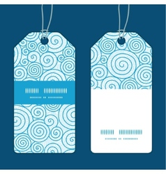 Abstract swirls vertical stripe frame pattern tags vector