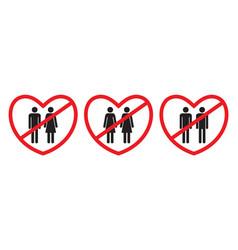 Anti-homosexual and anti-heterosexual icons vector