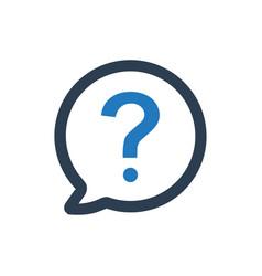 Ask question icon vector