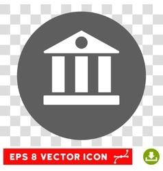 Bank Building Round Eps Icon vector