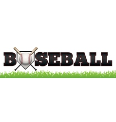 Baseball Word Art vector image