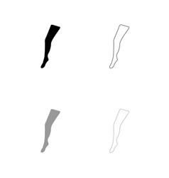 beauty leg black and grey set icon vector image vector image