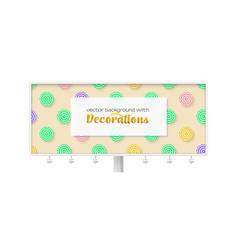 billboard with sun umbrellas on yellow background vector image