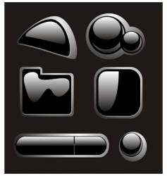 black buttons vector image