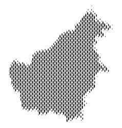 Borneo island map population people vector
