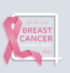 Breast cancer awareness month background with pink vector