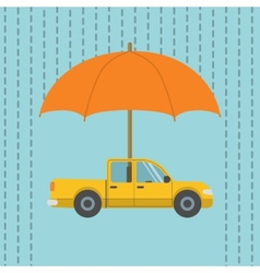 Car under umbrella vector image