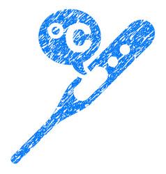 celsius temperature grunge icon vector image