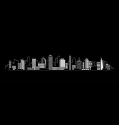 City silhouette icon with windows in the vector